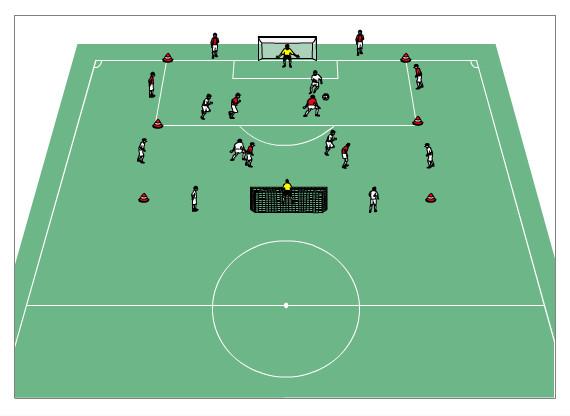 Trainingsform 4+4 gegen 4+4