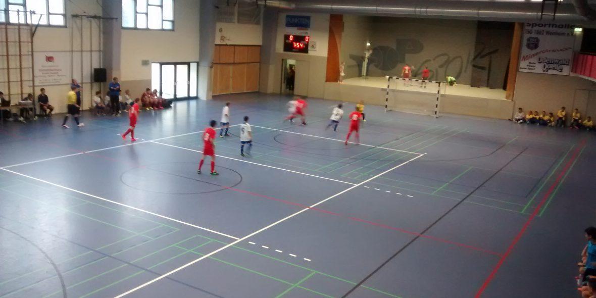 Spielaufbau Hallenfußball