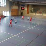 Spielaufbau in der Halle – Positionswechsel