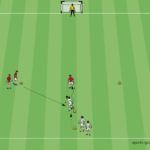 Zweikampf-Training im Fußball