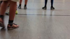 Fußballtennis in der Halle