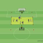 Spielform 4 gegen 4 mit Zonen